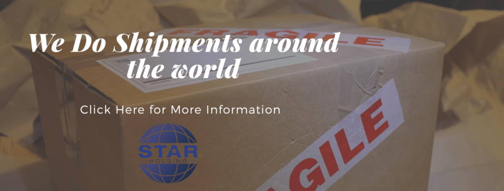 Starholding do shipments around the world