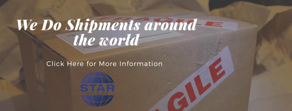 Star Holding do shipments around the world
